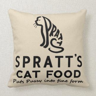 Almofada anúncio da comida de gato do vintage