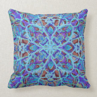 Almofada arabesque colorido Boho-romântico do ornamento da