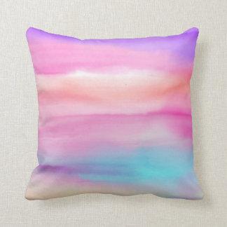Almofada Arcos-íris da aguarela - todas as opções