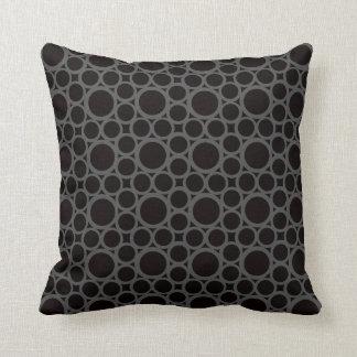 Almofada Arredondando travesseiros Decoração-Macios pretos