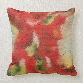 Almofada Arte abstracta que pinta a textura vermelha do