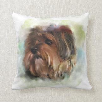 Almofada Arte bonito do cão de filhote de cachorro do
