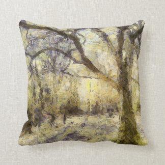 Almofada Arte da floresta do nascer do sol