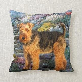 Almofada Arte de galês Terrier