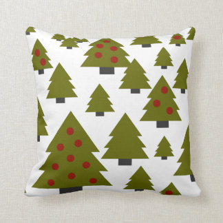 Almofada Arte gráfica verde & vermelha de árvore de Natal