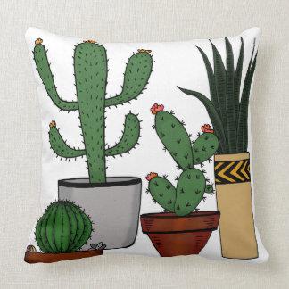 Almofada Arte Potted Home do Doodle das plantas