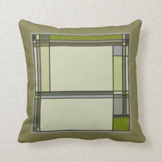 Almofada Artes verdes maravilhosas & teste padrão