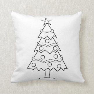 Almofada Artesanato da árvore de Natal da cor do