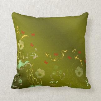 Almofada artesanato floral, feriado, elegante, cor,