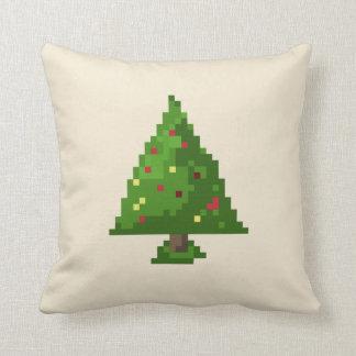 Almofada Árvore de Natal do pixel 8bit do geek