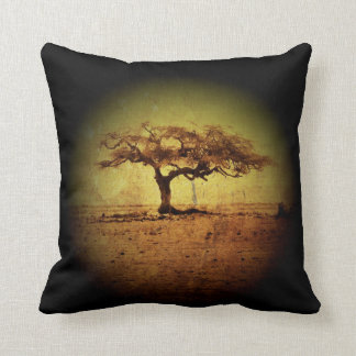 Almofada Árvore rústica