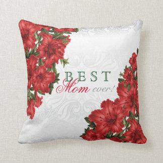 Almofada As melhores flores sempre vermelhas do lírio da