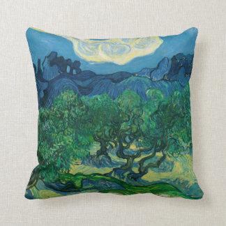 Almofada As oliveiras com Alpilles Vincent van Gogh