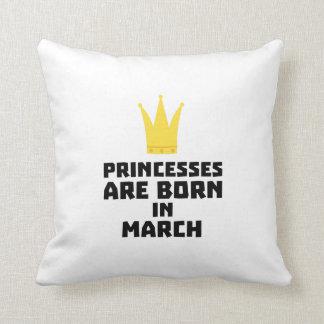 Almofada As princesas são em março Z1szr nascidos