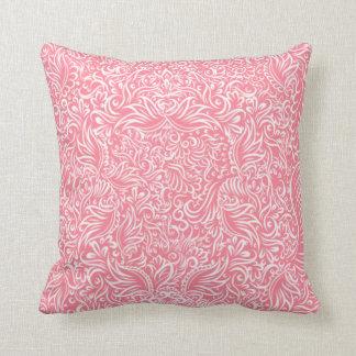 Almofada As videiras do fluxo do rosa