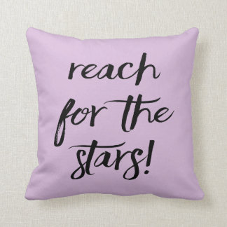 Almofada Atitude, objetivos, sonhos, sucesso, lavanda roxa