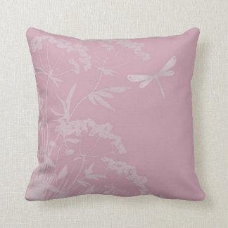 Almofada Aumentou/o travesseiro decorativo floral libélula