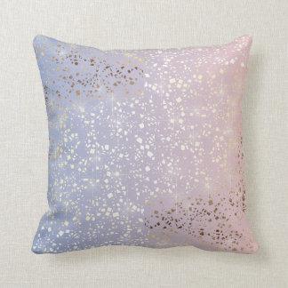 Almofada Azul da serenidade de quartzo cor-de-rosa da
