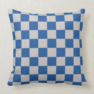Almofada Azul de China do teste padrão do tabuleiro de