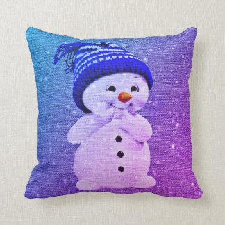 Almofada Azul roxo do travesseiro decorativo   bonito do