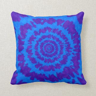 Almofada Azul & travesseiro roxo do impressão da tintura do