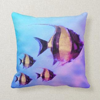 Almofada Azul tropical do rosa do travesseiro da decoração