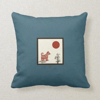 Almofada Azulejo do cão do Kanji
