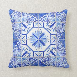 Almofada Azulejos rústicos do país da casa da quinta