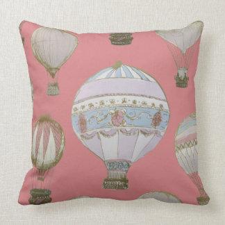 Almofada Balão de ar quente lunático - duquesa Cor-de-rosa