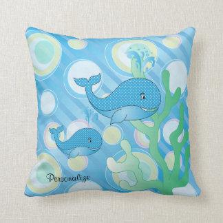Almofada Baleia azul do bebé