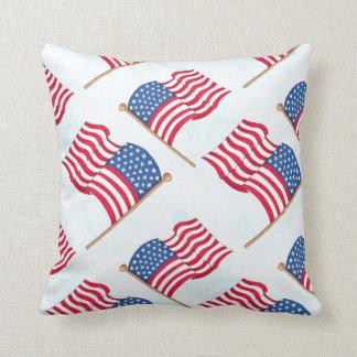 Almofada Bandeira americana 4o do azul branco vermelho de