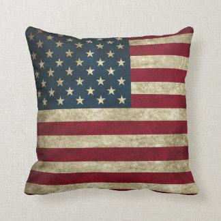 Almofada Bandeira americana rústica