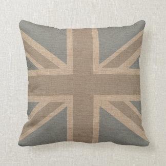 Almofada Bandeira de Union Jack em azul pálido e em
