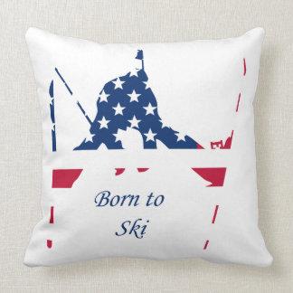 Almofada Bandeira dos EUA do americano de esqui de América