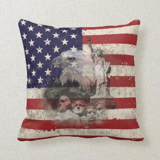 Almofada Bandeira e símbolos dos Estados Unidos ID155