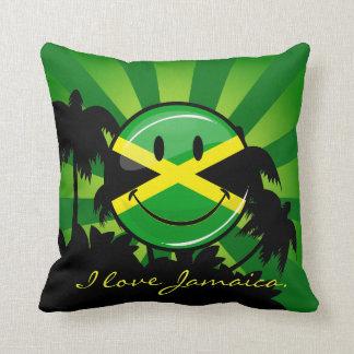 Almofada Bandeira jamaicana de sorriso