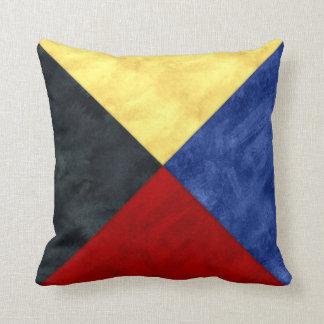 Almofada Bandeira marítima do sinal náutico da aguarela
