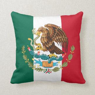 Almofada Bandeira mexicana verde & brasão brancas &