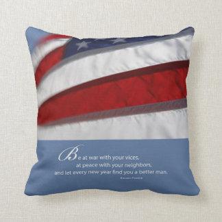 Almofada Bandeira patriótica, americana