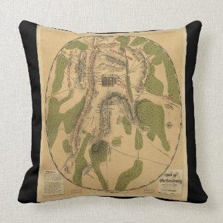 Almofada Batalha do travesseiro do mapa de Gettysburg