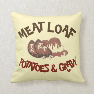 Almofada Batatas de Meat Loaf & Meatloaf da comida do