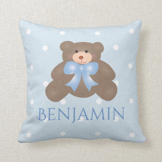 Almofada Bebé doce Pastel bonito do urso de ursinho da fita