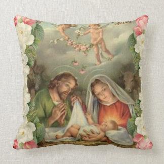 Almofada Bebê Jesus St Joseph dos rosas de Natal, Mary,