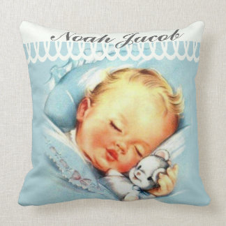 Almofada Bebé personalizado que dorme com bicho de pelúcia