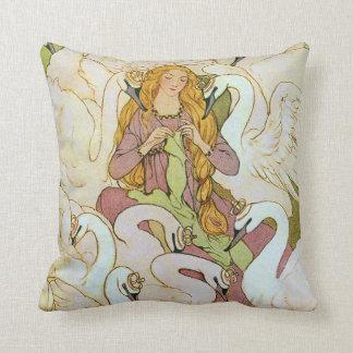 Almofada Belas artes selvagens de Eleanor Abbott das cisnes