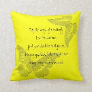 Almofada Bênção irlandesa: Asas de uma borboleta