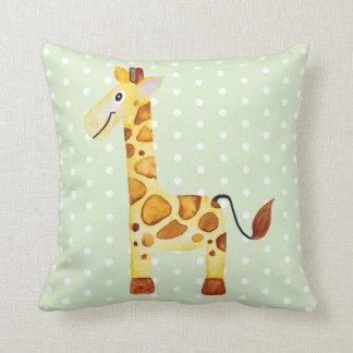 Almofada Berçário unisex bonito do bebê do safari do girafa