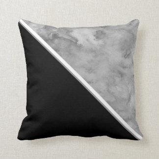 Almofada Bloco preto e cinzento da cor