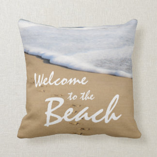 Almofada Boa vinda à praia e ao travesseiro do oceano