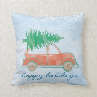 """Almofada Boas festas travesseiro decorativo 16"""" do carro"""